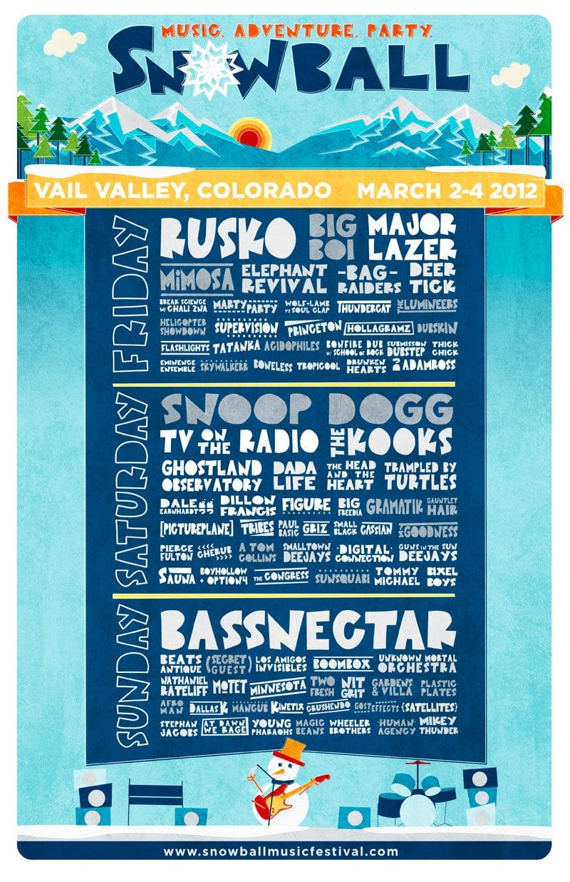 The Snowball 2012 Tosses a Lineup Out
