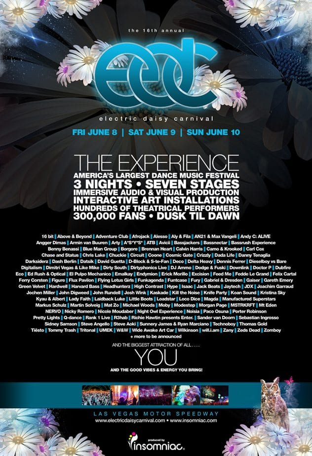 The Electric Daisy Carnival Las Vegas lineup