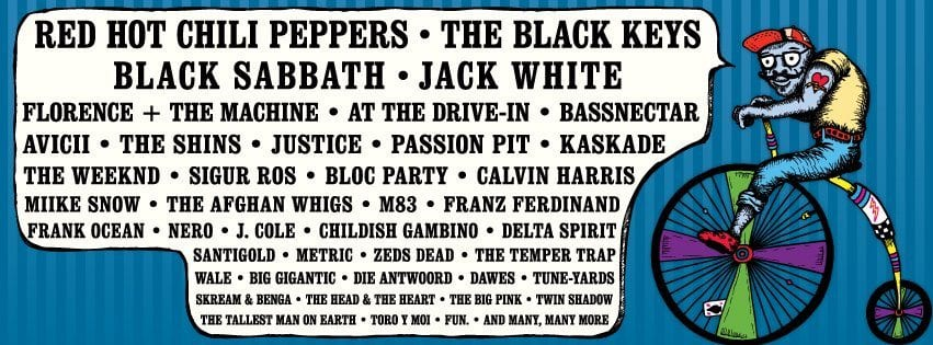 Lollapalooza 2012 Lineup: Black Sabbath, Jack White, Red Chili Peppers, The Black Keys