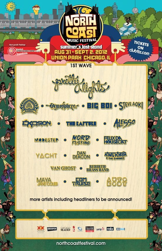 Lineup 2012 North Coast Music Festival