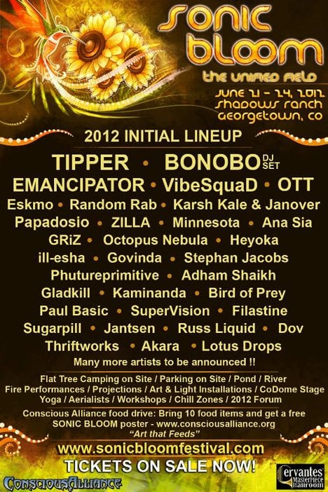 Sonic Bloom Grows A 2012 Lineup Music Festival Wizard