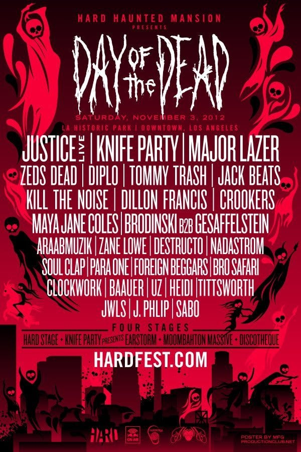 Hard Haunted Mansion 2012 Announces Day of the Dead Lineup