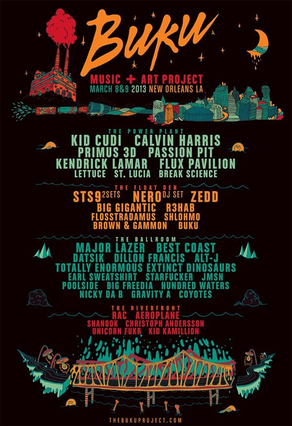 Kid Cudi, Primus, Passion Pit to Head Up BUKU Music Project 2013