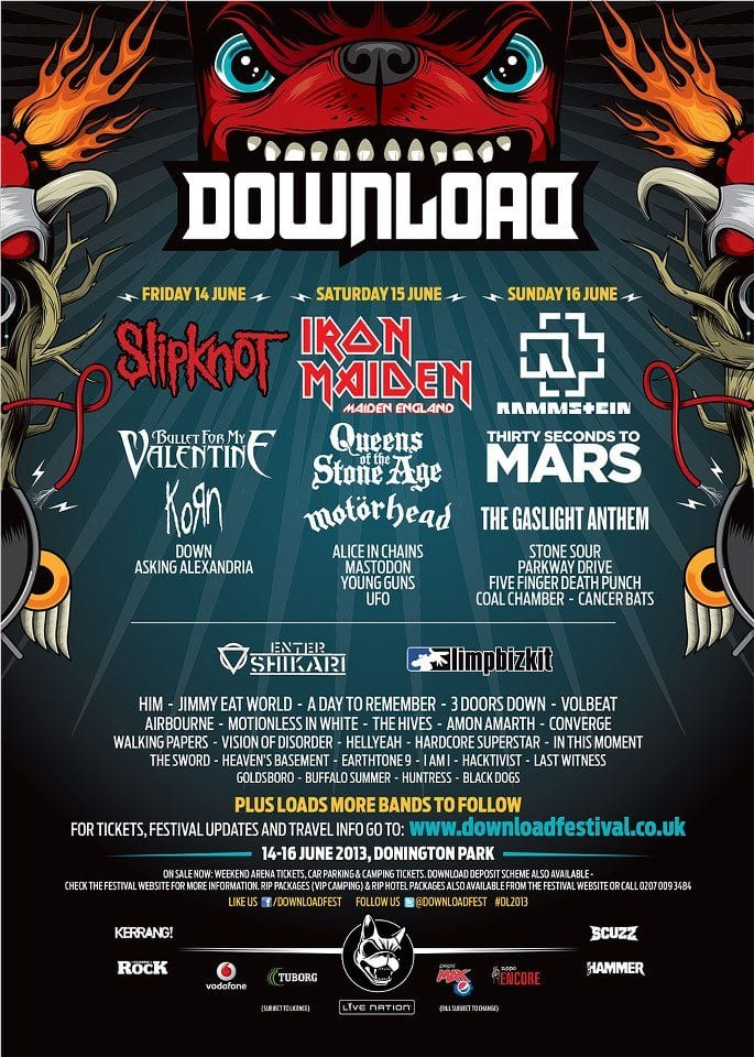 Download Festival 2013 Poster