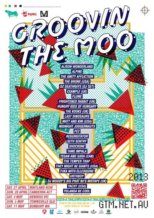 Groovin the Moo 2013 Lineup