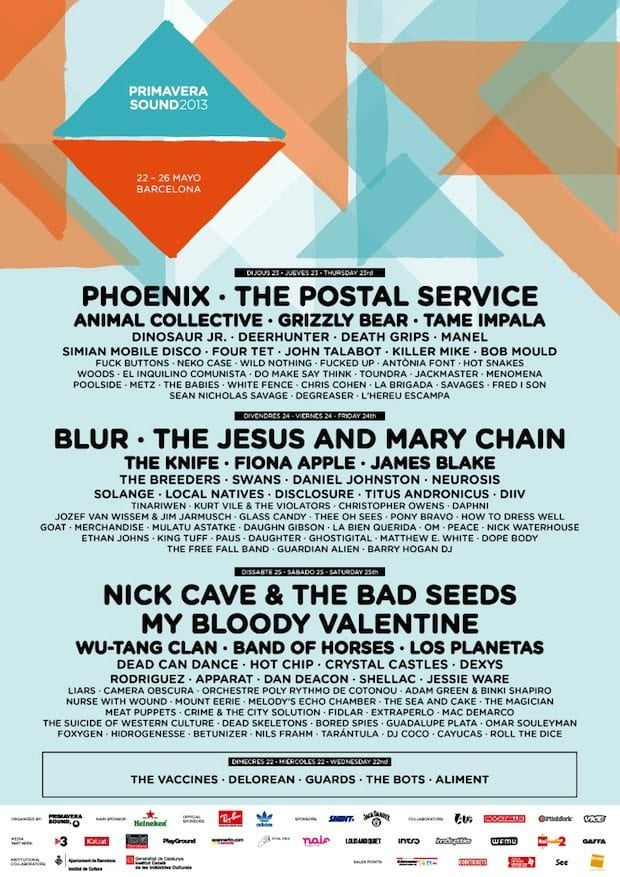 The Postal Service, Wu-Tang Clan, Fiona Apple: Primavera Sound Releases 2013 Lineup!