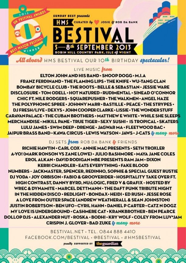 Bestival 2013 Lineup