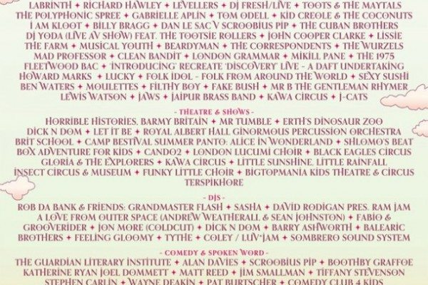 Camp Bestival 2013 Lineup