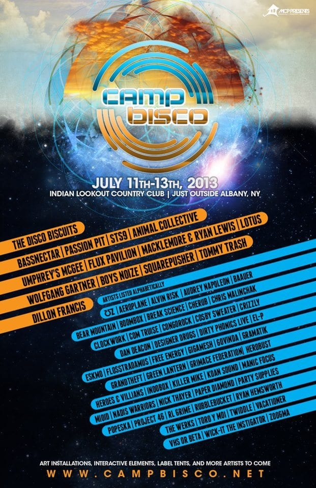 Camp Bisco Announces 2013 Lineup!