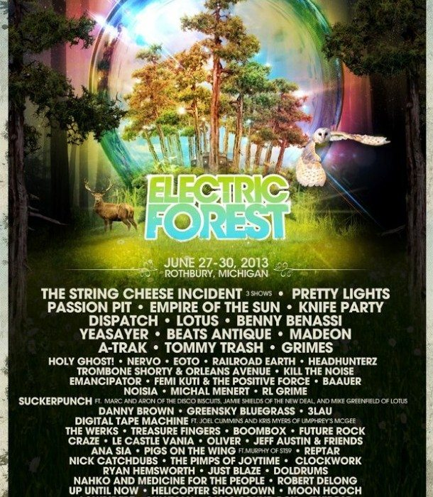 Electric Forest 2013 Poster