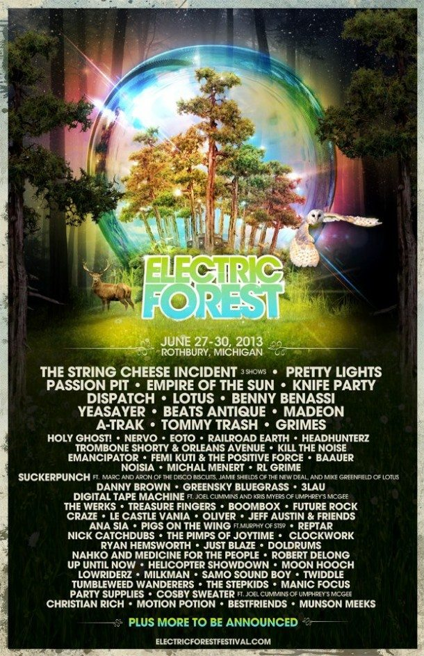 Electric Forest Jams Out a 2013 Lineup