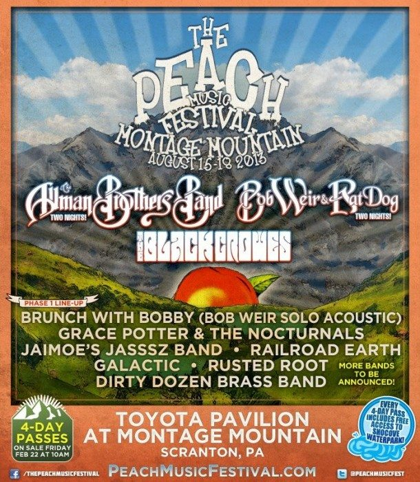 The Peach Music Festival 2013 Phase One Poster
