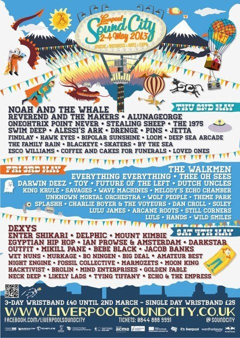 Liverpool Sound City Lineup Poster