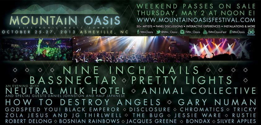 Neutral Milk Hotel and Nine Inch Nails Top the Bill @ Mountain Oasis 2013