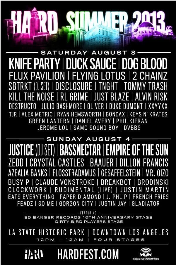Hard Summer 2013: Lineup and Awesome New Trailer