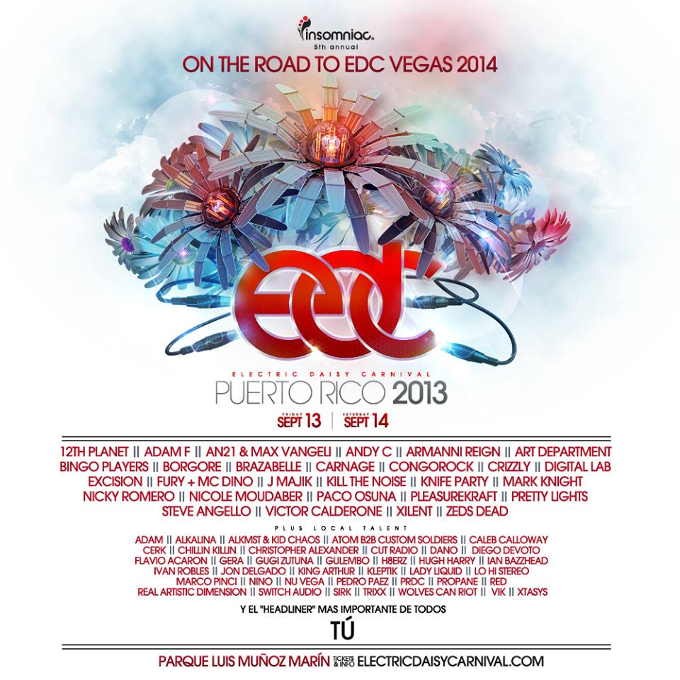 Insomniac Announces Lineup for Electric Daisy Carnival Puerto Rico!