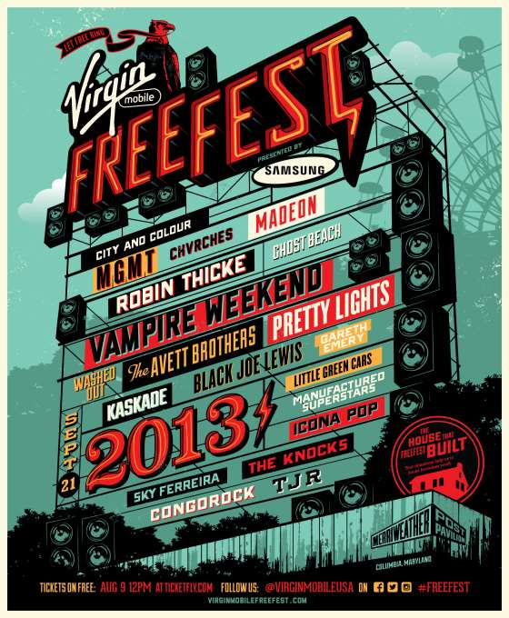 Robin Thicke, Vampire Weekend, The Avett Brothers Headlining FreeFest 2013