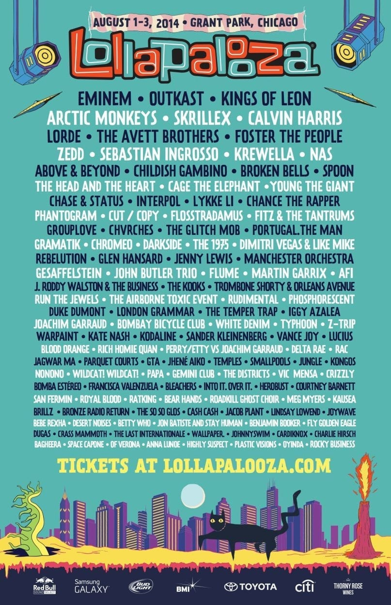 Lollapalooza 2014 Festival Poster