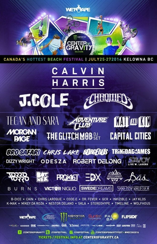 Center of Gravity 2014 Festival Poster