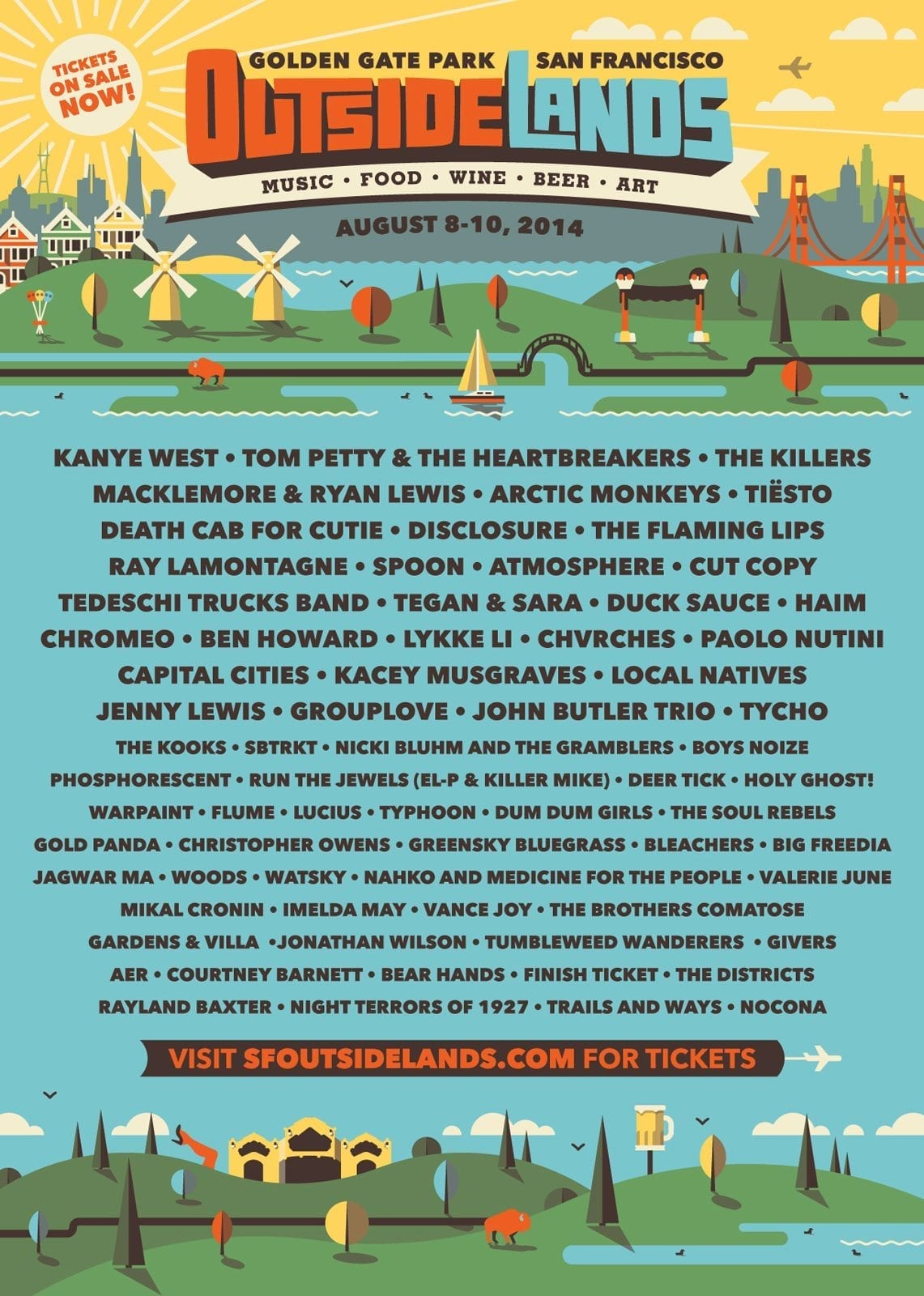 Outside Lands 2014 Festival Poster