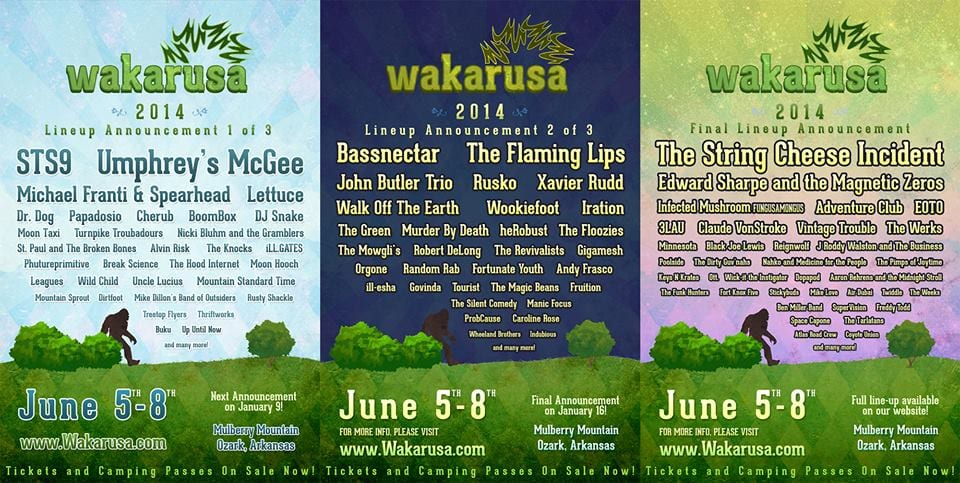 Third and Final Lineup Announcement for Wakarusa 2014