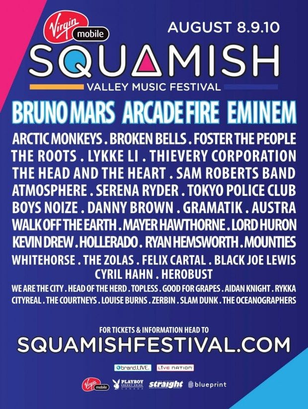 Squamish Valley Music Festival 2014 Festival Poster