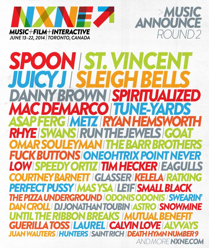 North By Northeast (NXNE) 2014 Festival Poster