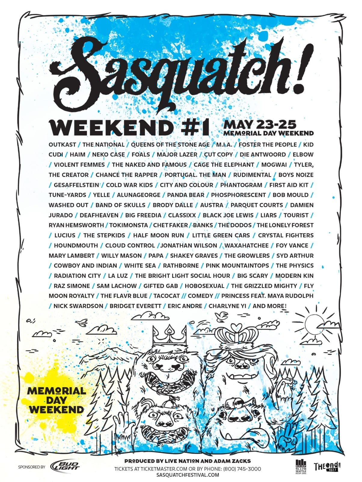 Sasquatch Releases Double-Sized 2014 Lineups!