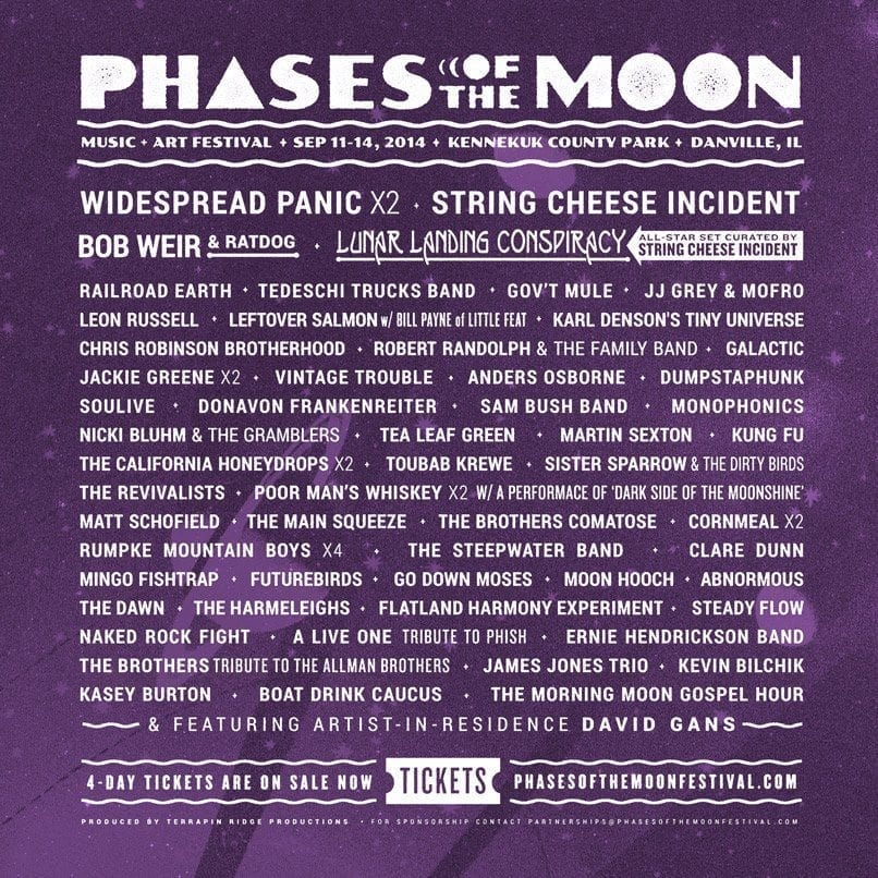 Phases of the Moon 2014 Festival Poster