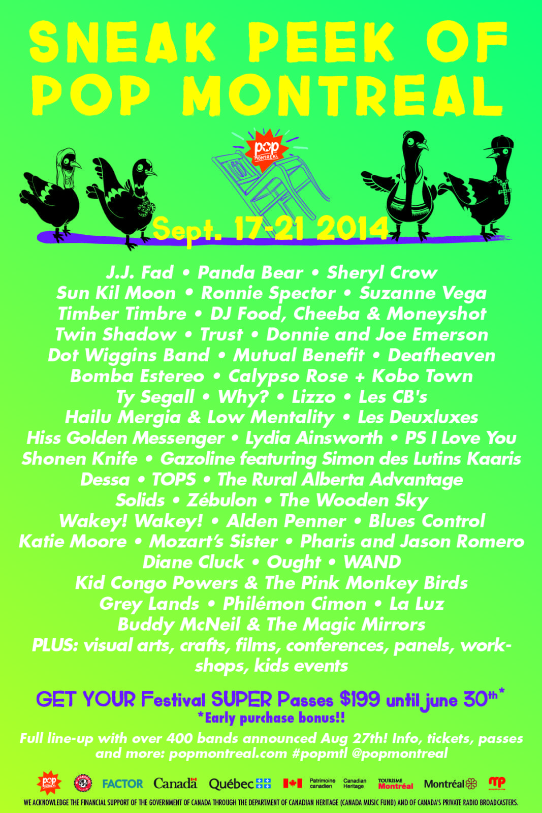 Pop Montreal 2014 Festival Poster