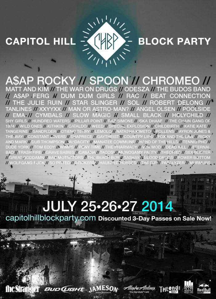Final Lineup for the 2014 Capitol Hill Block Party