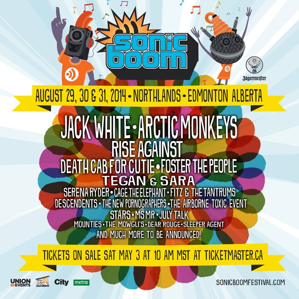 Sonic Boom 2014 Jack White Foster The People Descendents Music Festival Wizard