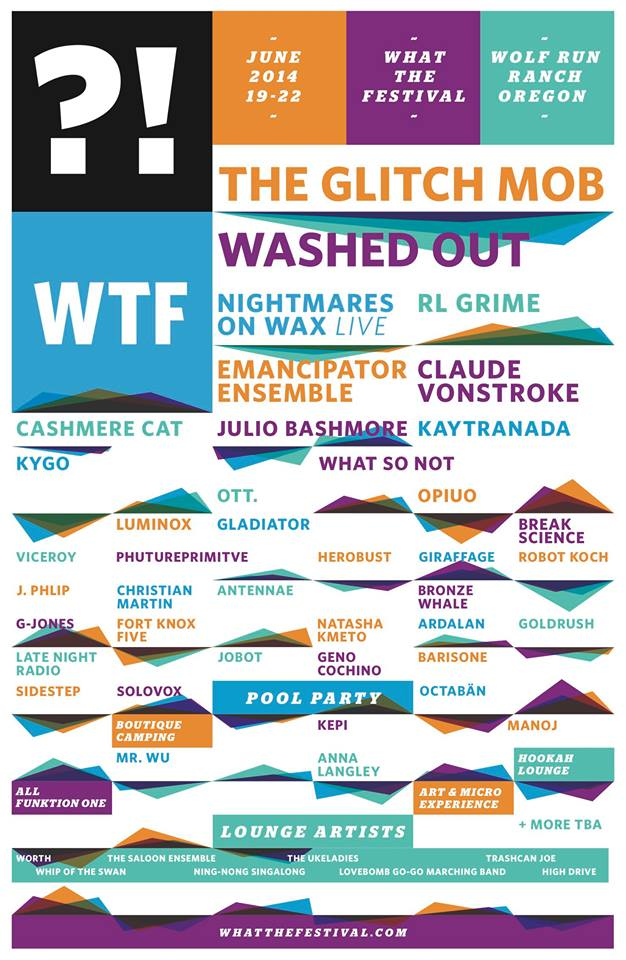 What The Festival Posts 2014 Lineup!