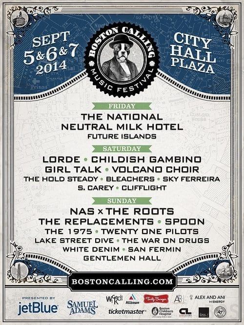 Boston Calling Fall 2014 Festival Poster