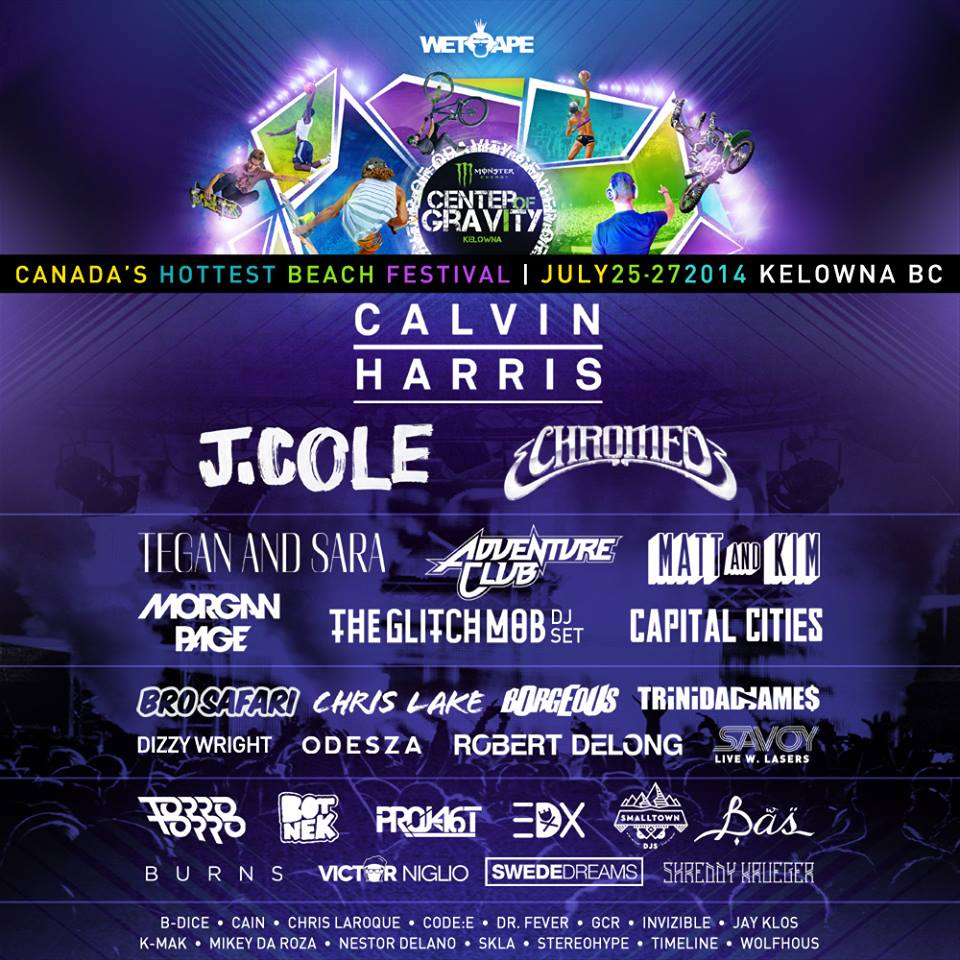 Center Of Gravity Festival 2014 Lineup Chromeo Matt And