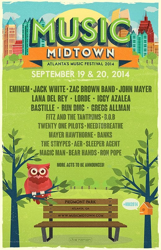 The Squidbillies Announce the 2014 Music Midtown Lineup!