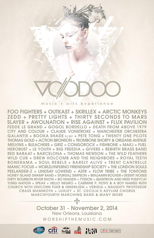 Voodoo Music Experience 2014 Festival Poster