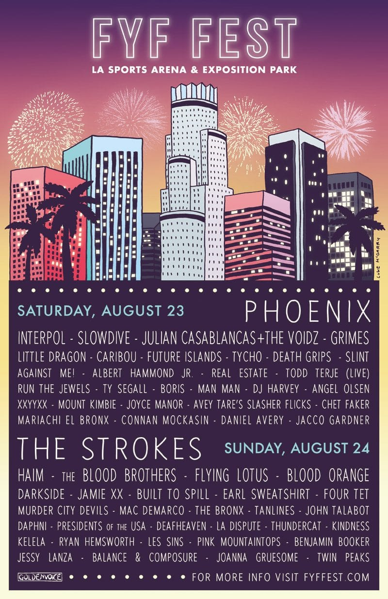FYF Lineup Poster 2014