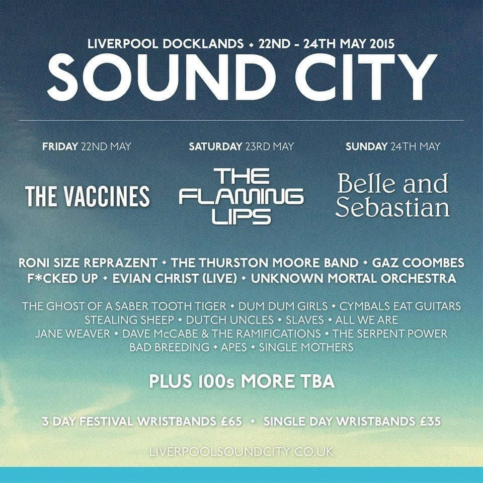 Liverpool Sound City 2015 Festival Poster