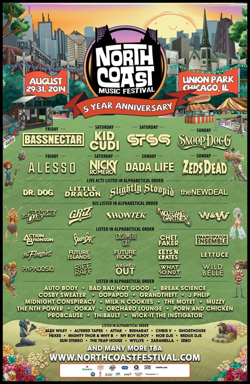 North Coast Music Festival 2014 Festival Poster
