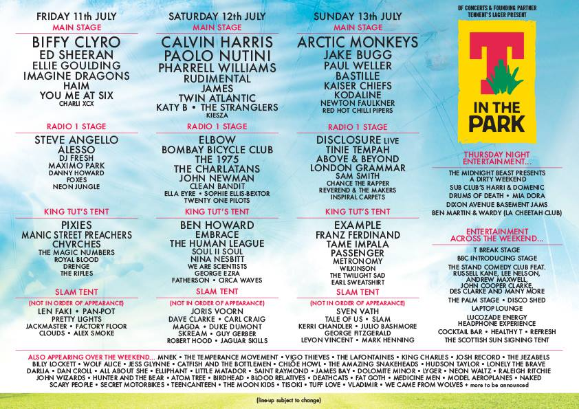 T in the Park 2014 Lineup