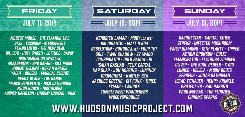 TheHudsonProject 2014 Lineup Poster