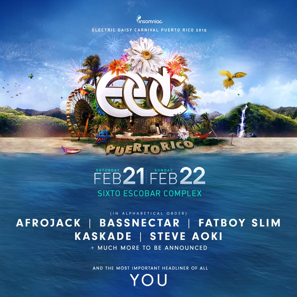 Electric Daisy Carnival Puerto Rico 2015 Festival Poster