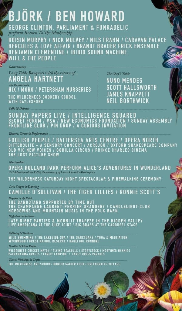 Wilderness 2015 Festival Poster