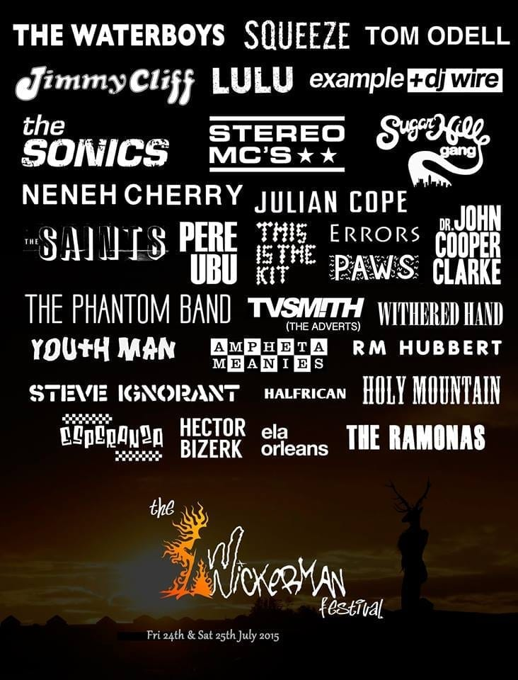 The Wickerman Festival 2015 Festival Poster