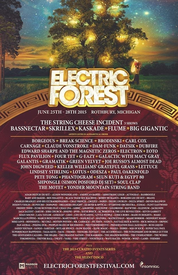Electric Forest 2015 Festival Poster