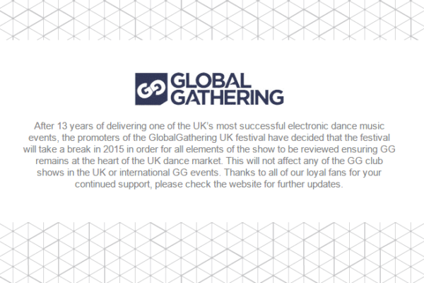 GlobalGathering 2015 cancelled