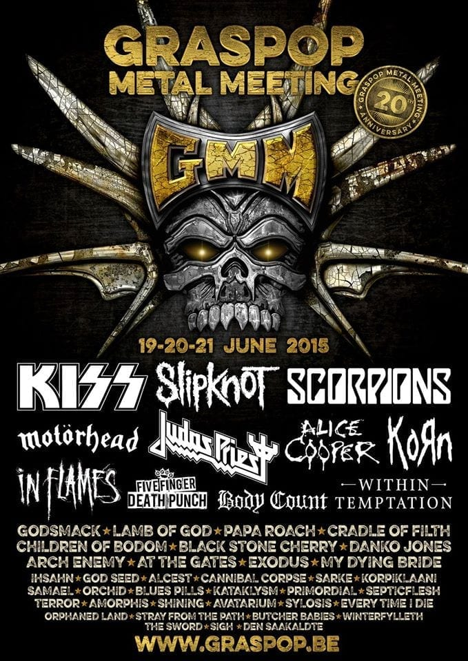 Graspop Metal Meeting 2015 Unleashes Partial Lineup: KISS, Alice Cooper, Korn, Slipknot