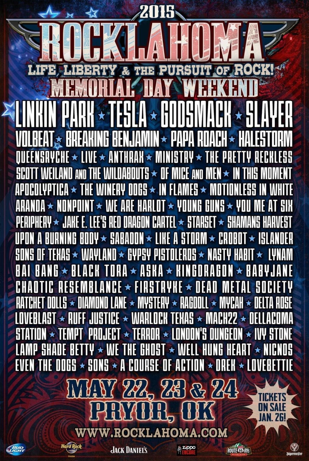Rocklahoma 2015 Festival Poster