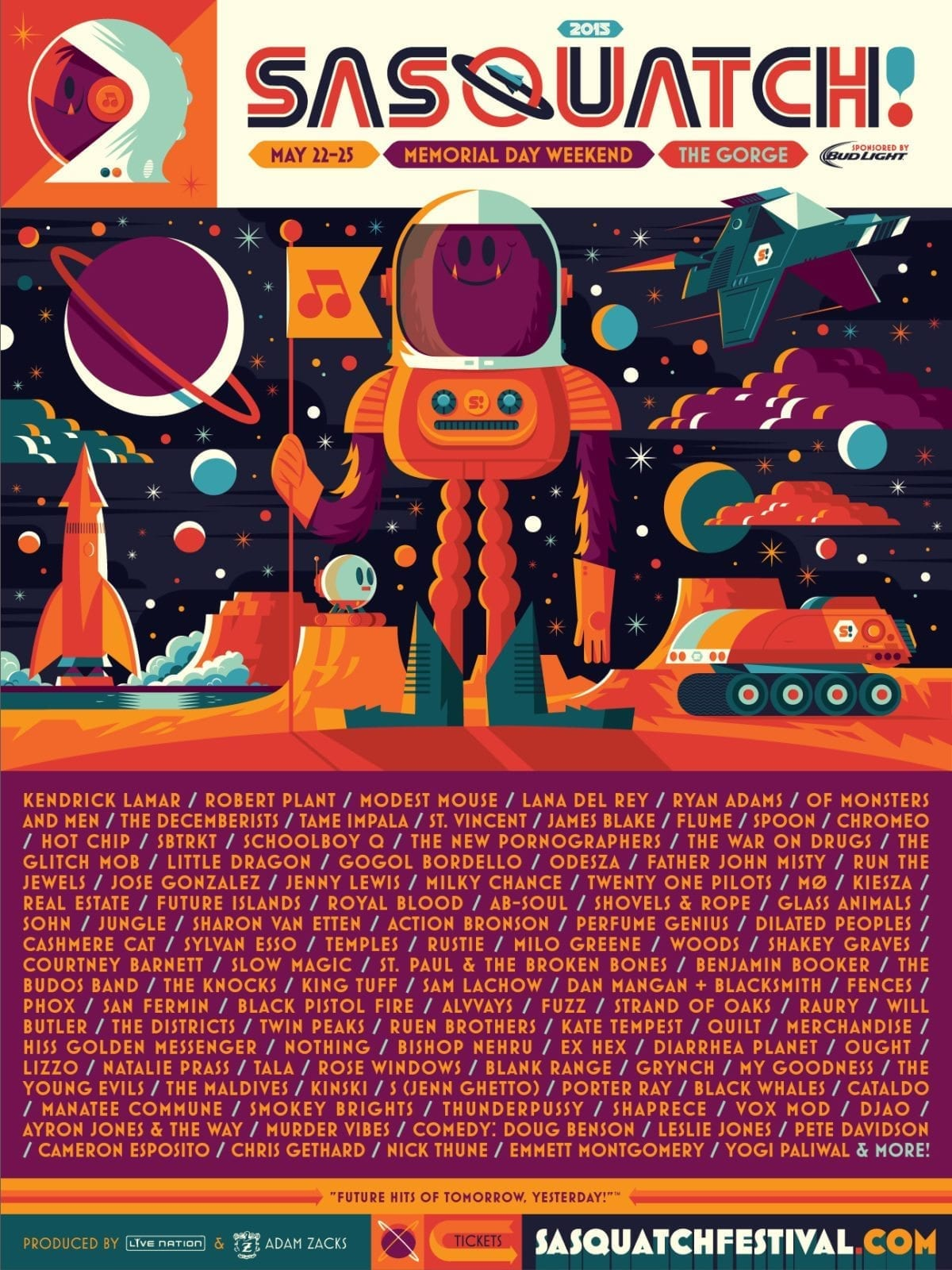 Tremble Before the Sasquatch Festival 2015 Lineup: 100+ Confirmed Artists